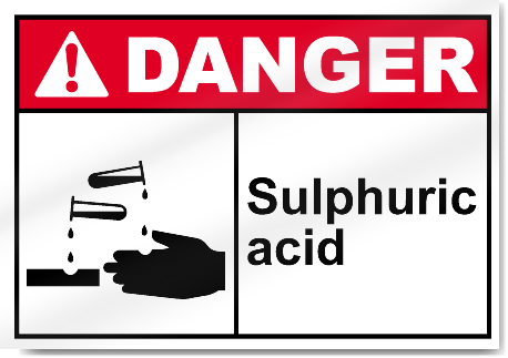 Sulphuric Acid Danger Signs