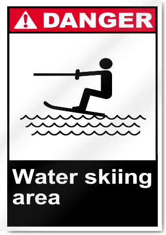 Water Skiing Area Danger Signs