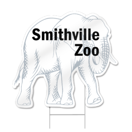 Elephant Shaped Sign