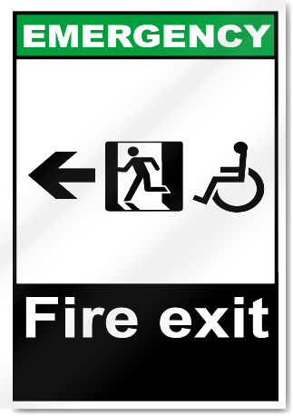 Fire Exit Left All Emergency Signs