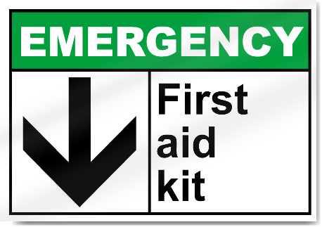 First Aid Kit Emergency Signs