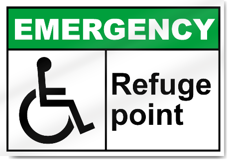 Refuge Point Emergency Signs