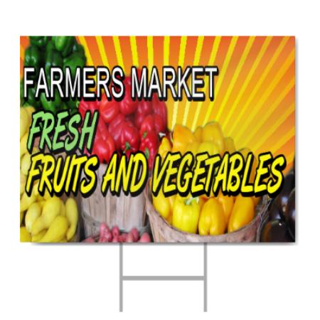 Farmers Market Sign Signstoyou Com