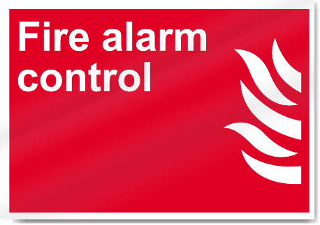Fire Alarm Control Fire Signs