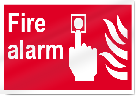 Fire Alarm Fire Signs