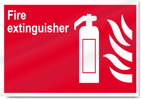 Fire Extinguisher Fire Signs