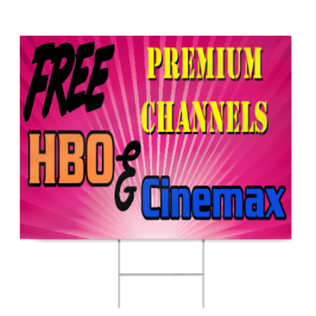 Free Premium Channel Sign