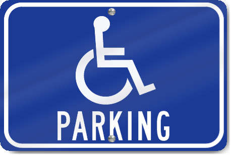 Horizontal Handicapped Parking Sign