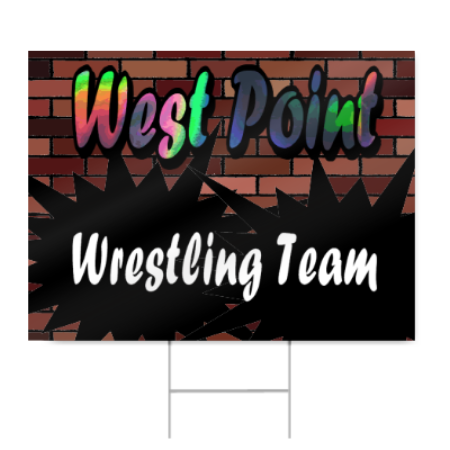 High School Wresting Team Sign