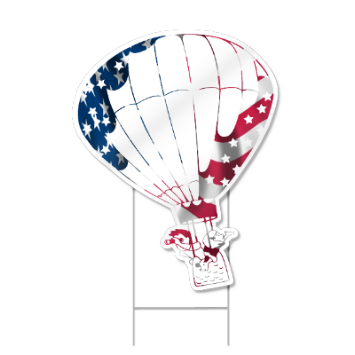 Hot Air Balloon Shaped Sign