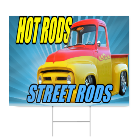 Hot Rods Street Rods Sign