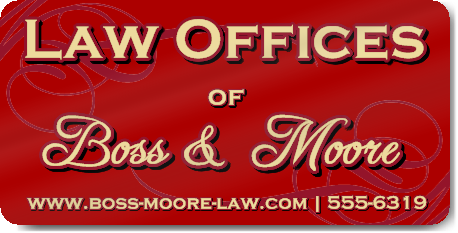 Red Law Office Magnet