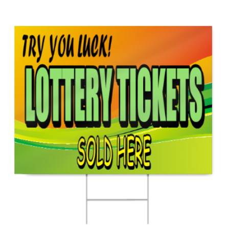 Lottery Tickets Sign
