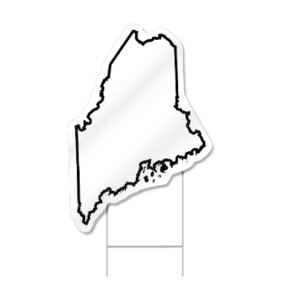 Maine Shaped Sign
