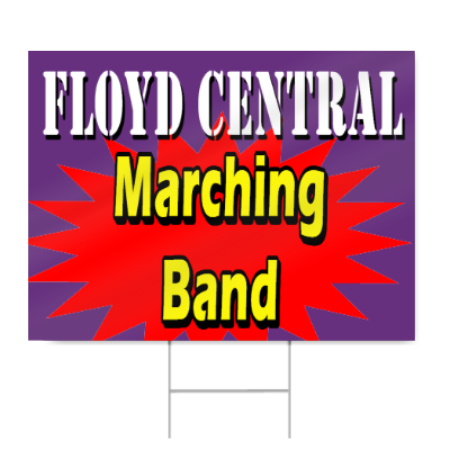 Marching Band Parade Sign