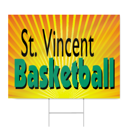 Middle School Basketball Sign