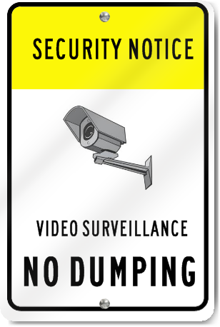 No Dumping Under Video Surveillance Sign