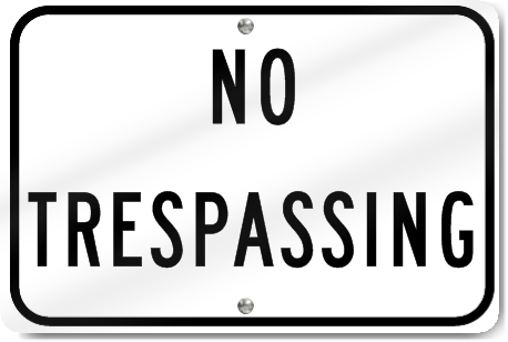 Horizontal No Trespassing Aluminum Reflective Sign