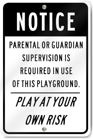 Parental Guardian Playground Sign