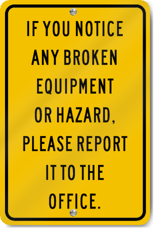 Caution Broken Equipment Playground Sign Signstoyou Com