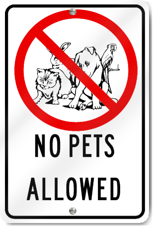 No Pets Allowed Playground Sign