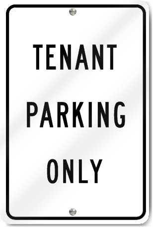 Tenant Parking Only Metal Sign