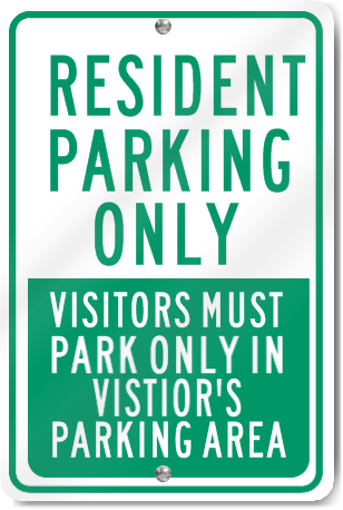 Resident Parking Only Metal Sign