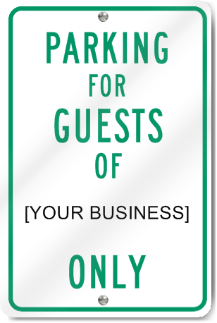 Parking For Guests Sign