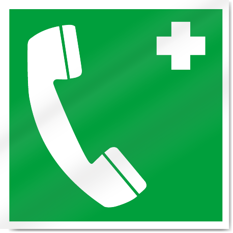 Emergency Telephone Symbol Safety Signs
