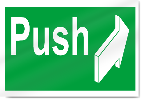 Push Safety Signs