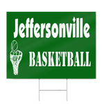 High School Basketball Sign in School Colors