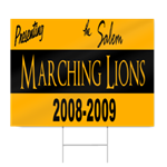 High School Marching Band Sign