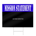 High School Mission Statement Sign