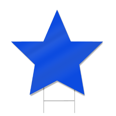Star Shaped Sign