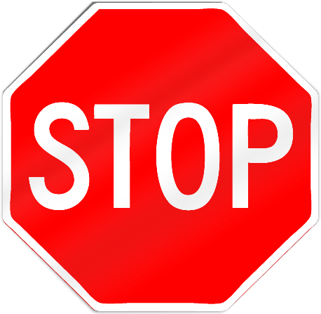 Stop Sign Shaped Magnet