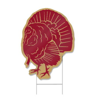 Turkey Shaped Sign