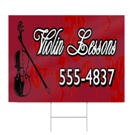 Violin Lessons Sign