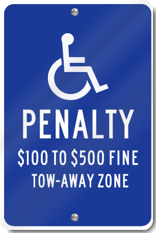 Virginia Handicapped Parking Lot Sign