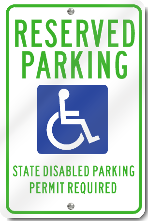 Washington Handicapped Parking Signs