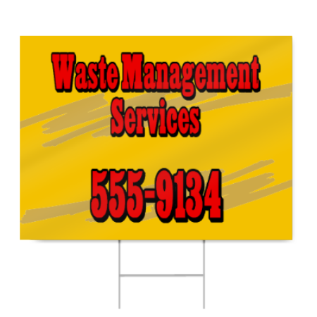 Waste Management Sign