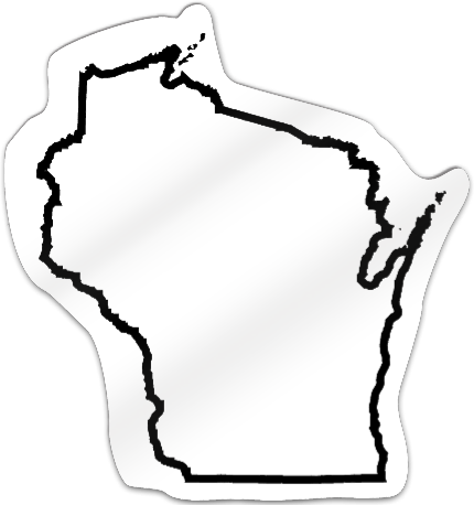 Wisconsin Shaped Magnet
