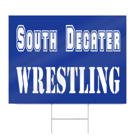 Wrestling Sign for High School Teams