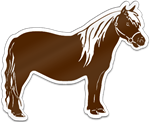 Pony Shaped Magnet