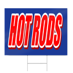 Hot Rods Block Lettering Sign