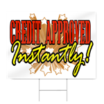 Instant Approval Credit Sign