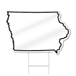 Iowa Shaped Sign