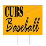Junior High Baseball Sign