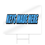 Keys Made Here Block Lettering Sign