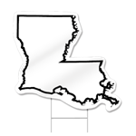 Louisiana Shaped Sign