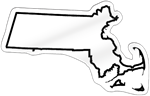 Massachusetts Shaped Magnet